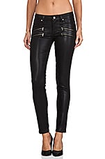 Denim Edgemont Ultra Skinny Silk Coating en Negro