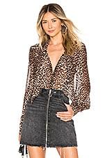 PAIGE Cleobelle Blouse in Natural Leopard
