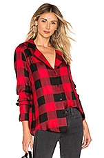 PAIGE Elora Shirt in True Red & Black
