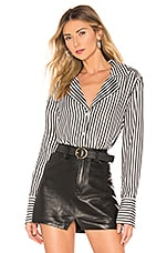 PAIGE Elora Shirt in White & Black Stripe