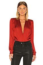 PAIGE Sevilla Bodysuit in Tulip Red