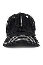 Palm Angels PB Tie Dye Logo Cap in Black & White