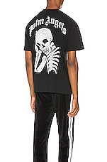 Palm Angels Thinking Skull Tee in White