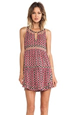Pam & Gela Tiered Dress in Ikat
