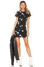 Pam & Gela Star T Shirt Dress in Black