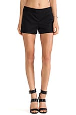 Ribed Short in Black