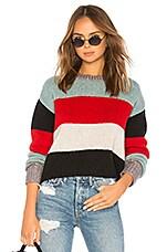Pam & Gela Crop Striped Sweater in Multicolor