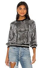 Pam & Gela Mirror Ball Sweatshirt in Silver