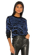 Pam & Gela Tiger Pullover in Blue