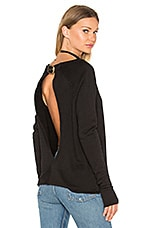 Twist Back Sweatshirt en Noir