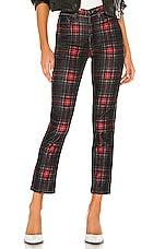 Pam & Gela Tartan Plaid Slim Crop Pant in Multicolor
