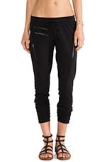Sweatpant with Zips in Black