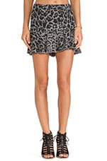 Kate Flippy Skirt in Pigment Grey Leopard