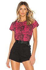 Pam & Gela Python Basic Tee in Raspberry