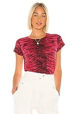 Pam & Gela Tiger Crop Tee in Red