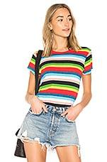 Pam & Gela Rainbow Stripe Tee in Multi