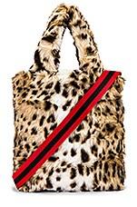 Pam & Gela Leopard Faux Fur Bag in Leopard