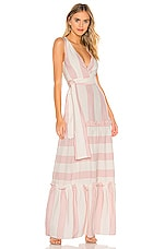 Paper London Zoe Maxi Dress in Spellbound Pink & Ivory