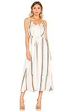 Paper London Natalia Rainbow Dress in Tropical Silk Twill