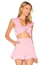 Twist Top in Pink Melange