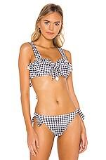 Paper London Langkan Bikini Top in Humburg Black & White