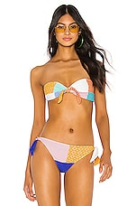 Paper London Bandeau Tie Top in Island Hopping Multi