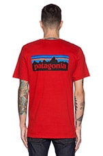 P6 Logo Tee in Cochineal Red