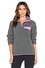 Patagonia Lightweight Synchilla Snap T Pullover in Nickel & Mock Purple