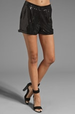 Nova Sequin Short in Black
