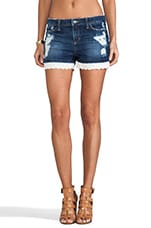 Patterson J. Kincaid Eyelet Denim Short in Indigo Wash