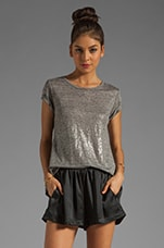 x the man repeller Mc Neal Tee in Foiled Heather Grey