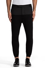 Drop Crotch Trouser in Asphault/ Noir