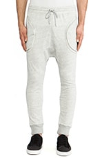 Post Bellum Drop Crotch Sweatpant in Heather Grey