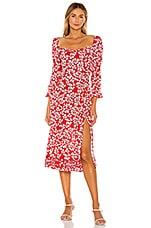 Paloma Blue Isla Dress in Azalea Red