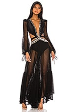 PatBO x REVOLVE Cutout Long Sleeve Gown in Black