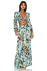 PatBO Cut Out Maxi Dress in Cerulean