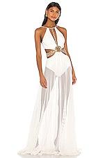 PatBO Beaded Cutout Beach Dress in White