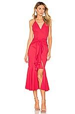 PatBO Bo Ruffle Midi Dress in Deep Pink