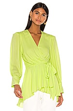 PatBO Neon Wrap Top in Lime