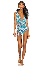 PatBO Plunge One Piece in Blue