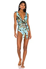 PatBO Plunge One Piece in Cerulean