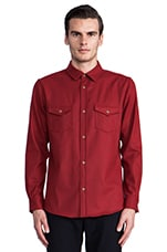 Government Camp Shirt in Red Mix Umatilla