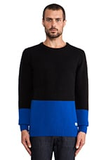 Elmdale Color Block Jumper in Black