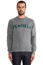 Brookport Crew Neck Sweat in Charcoal Marl