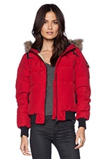 Skipton Down Insulated Glacier Jacket in Deep Red
