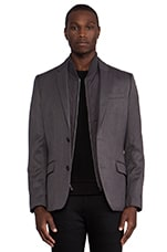 Blazer w/ Detachable Vest in Dark Steel Heather