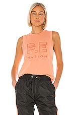 P.E Nation Shuffle Tank in Coral