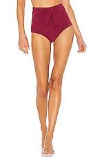 Peony Swimwear Hi Pant Bottom in Sangria