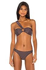 Peony Swimwear Asymmetric Bandeau Top in September