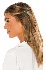 petit moments Glamour Barrette Set in Emerald
